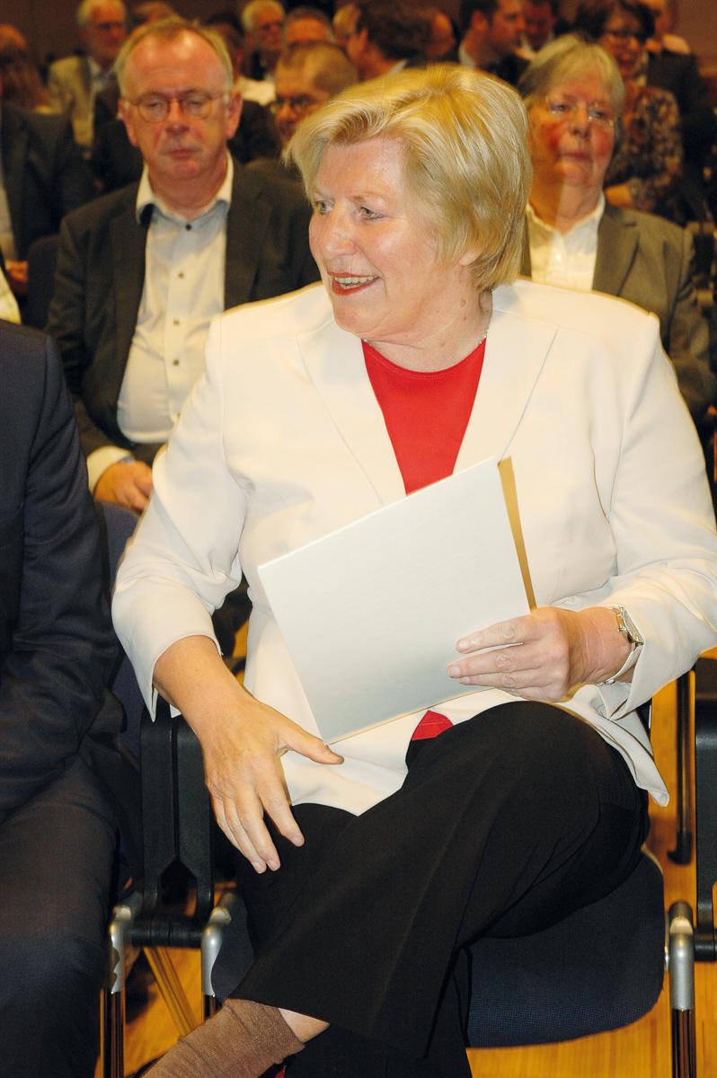 Gesundheitsministerin Cornelia Rundt bei der Vorstellung des Landespsychiatrieplans Niedersachsen. Foto: Hilgers