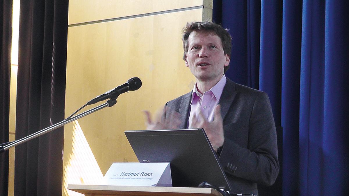Sorgte für sehr viel Resonanz: Prof. Hartmut Rosa aus Jena. Foto: Detlev Gagel