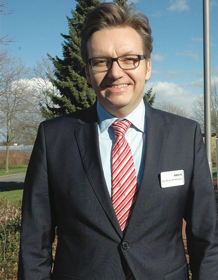 Priv.-Doz. Dr. med. Marcel Sieberer hat in Gießen studiert und promoviert. Er ist Facharzt für Psychiatrie, Psychotherapie und Neurologie mit Zusatzbezeichnungen für Suchtmedizin und Geriatrie. Der Ärztliche Direktor des AMEOS Klinikums Hildesheim lehrt als Privatdozent an der Medizinischen Hochschule Hannover und ist seit 2010 Vorstandsmitglied des Instituts für Arzneimittelsicherheit in der Psychiatrie (AMSP). Foto: Hilgers